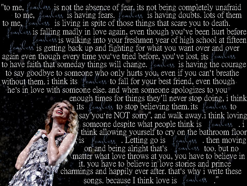 Taylorswift Fearless Quote Favorite Quote Ever Okay Flickr
