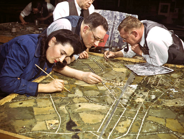 Ww2 Artists At War Relief Maps Flickr Photo Sharing