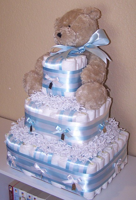 Its A Boy Square Diaper Cake  Flickr - Photo Sharing-3162