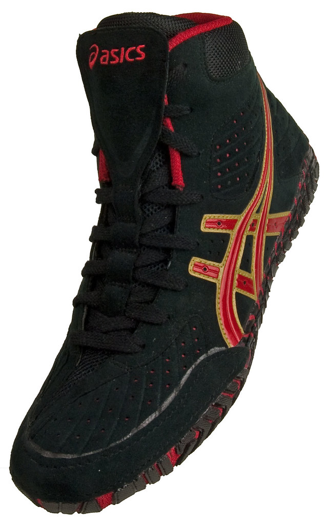 Red And Black Aggressor  Wrestling Shoes