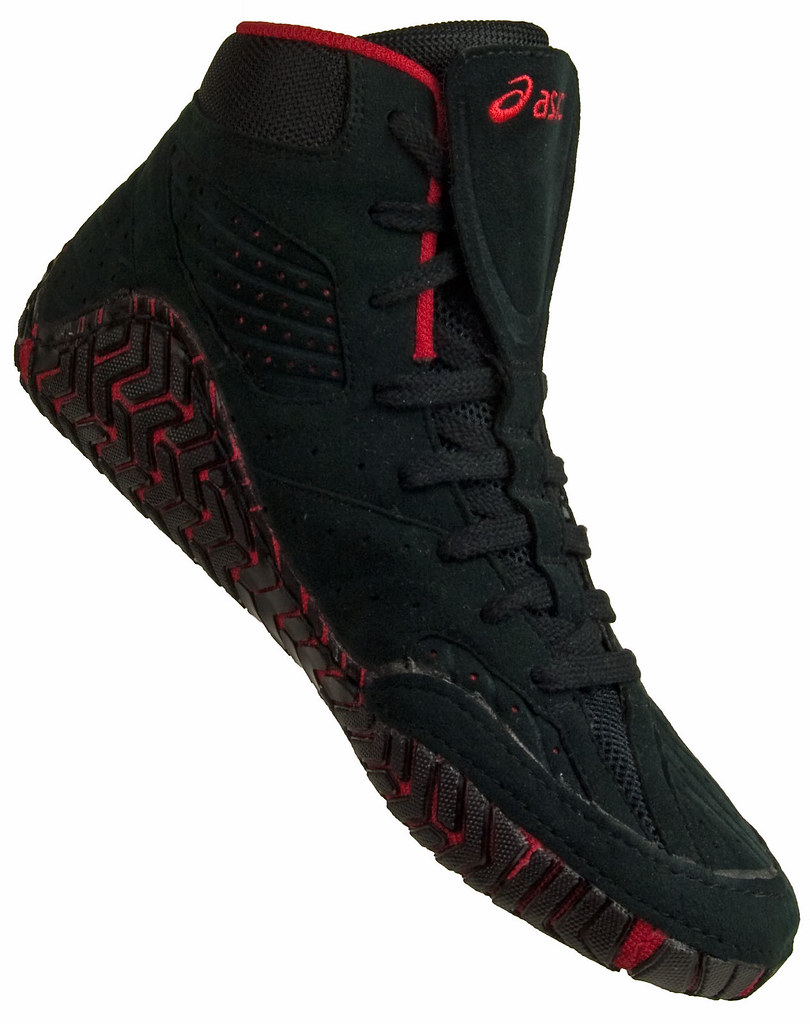 Black And Red Asics Wrestling Shoes Asics Aggressor Wrestling Shoe