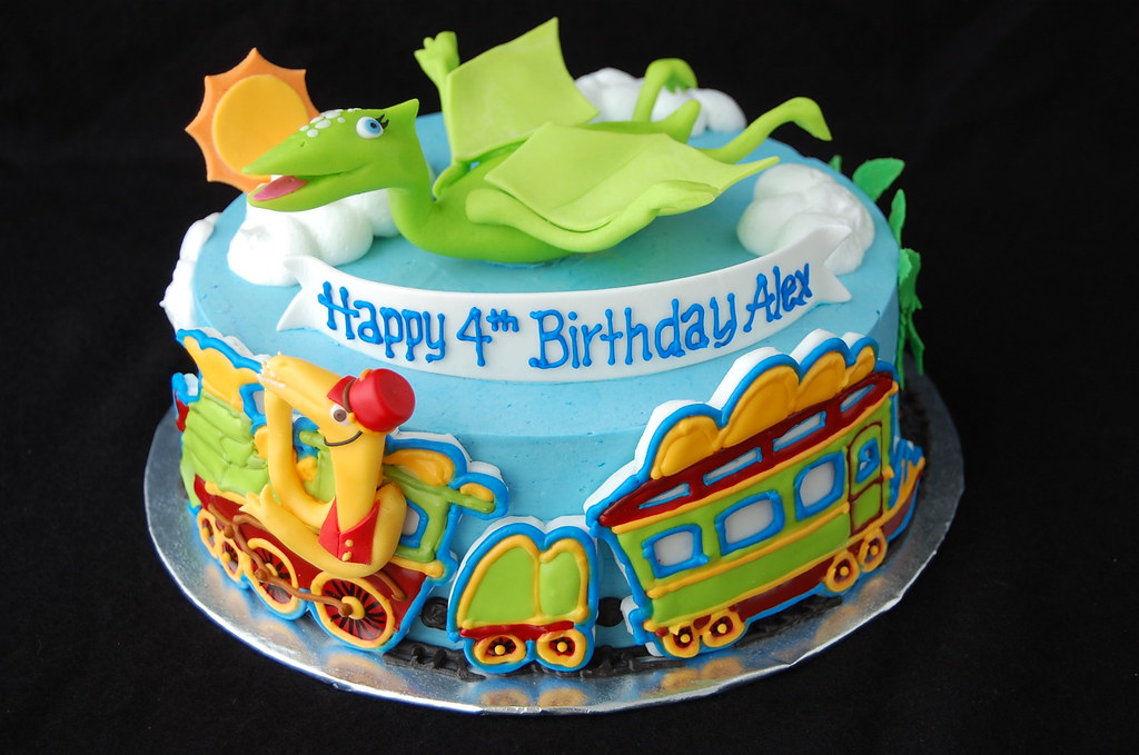 Dinosaur Train Cake Images : Dinosaur Train Birthday Cake - front Inspired by the PBS ...