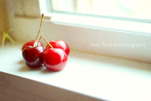 cherries on my windowsill | by I Should Be Folding Laundry