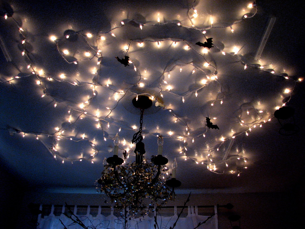 Harry potter party magical ceiling twinkle lights flickr for White twinkle christmas lights