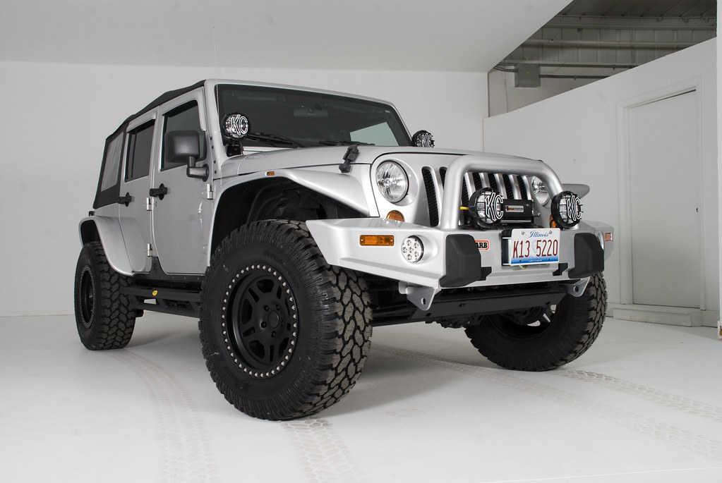... Customized Silver 2008 4 Door Jeep Wrangler JK Sahara Unlimited | By JC  Whitney