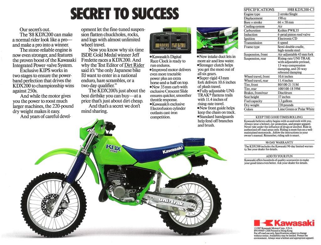 ... 1988 KDX200 Brochure Back | by Dusty_73