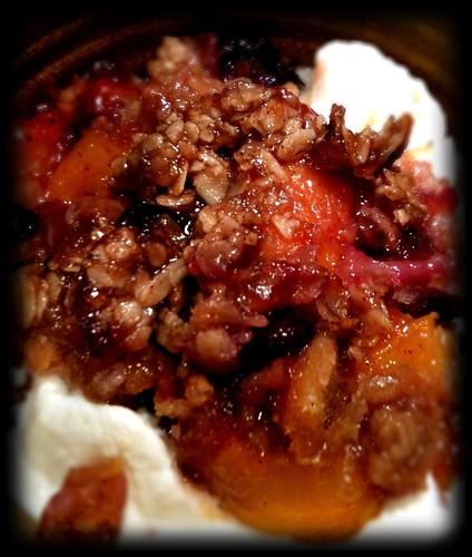 Peach And Blueberry Greek Cake