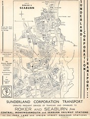 Sunderland Corporation Transport, map and advert 1953 | Flickr