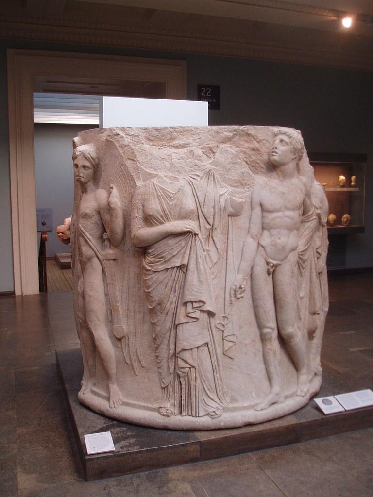 Sculpted column from artemis temple ephesus column base for Artemis decoration
