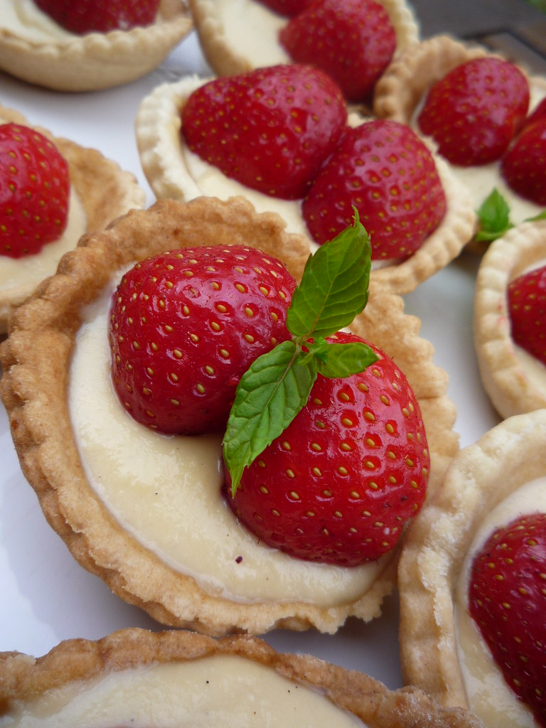 Image result for strawberry and cream tarts