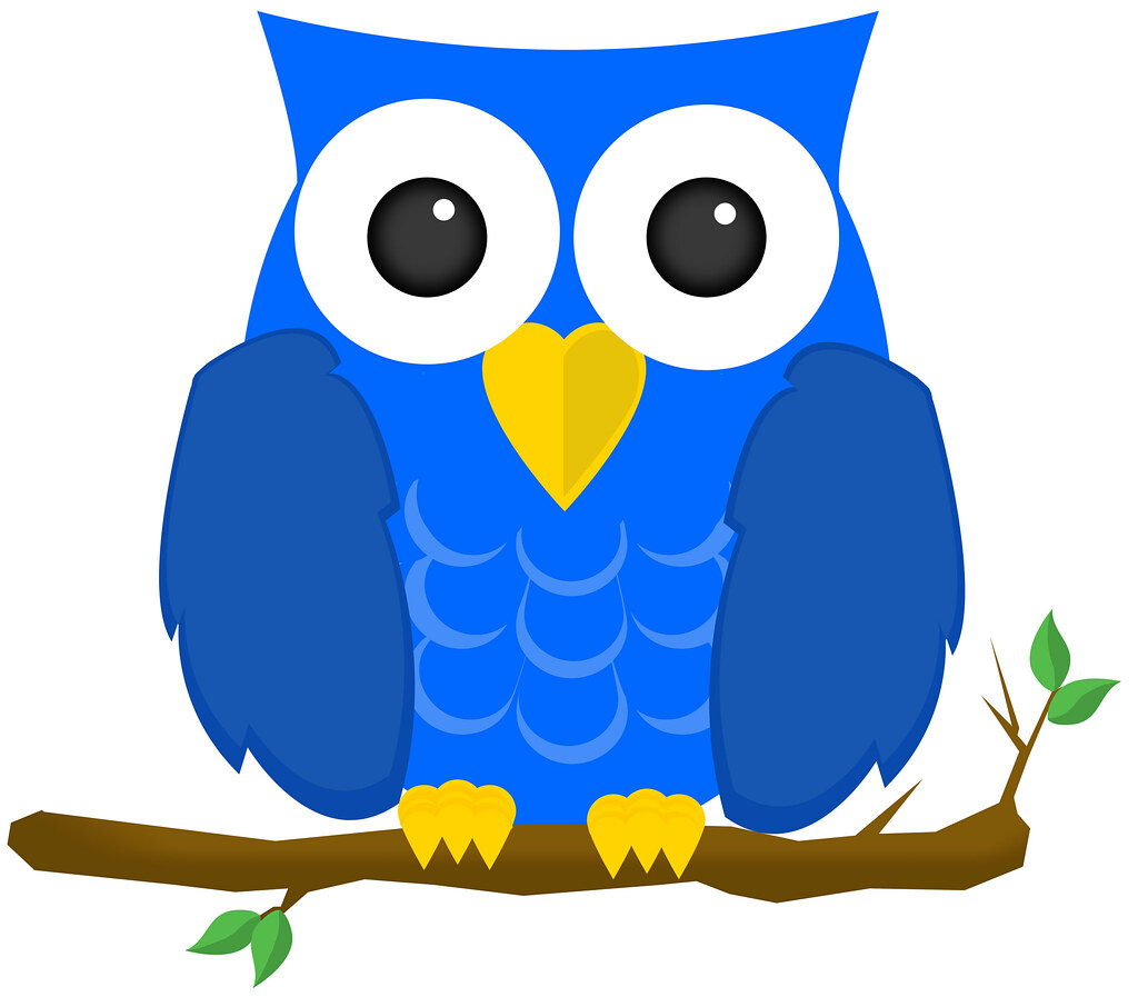 blue owl made this out of shapes in photoshop brandyn flickr