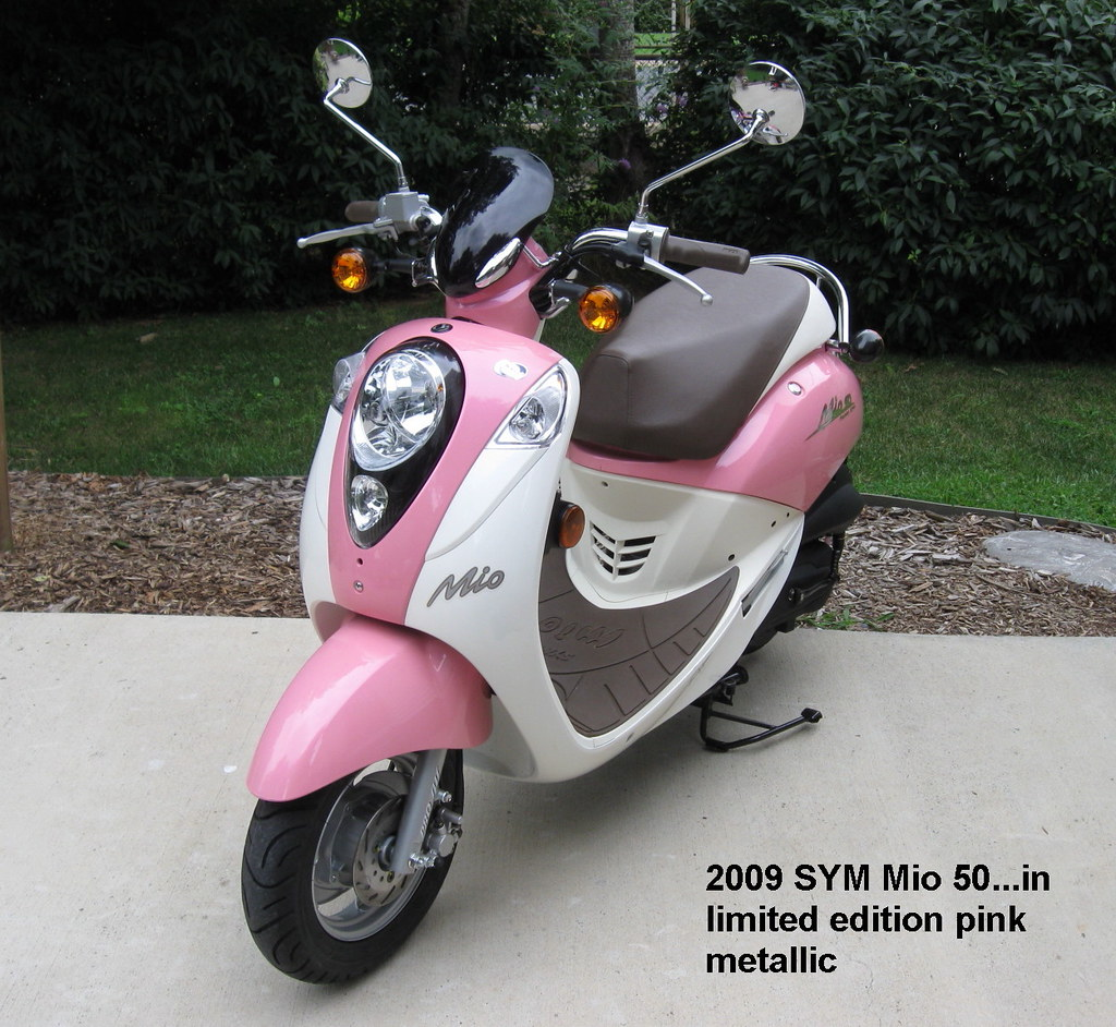2009 Sym Mio 50 Scooter In Limited Edition Pink Metallic