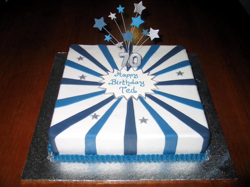 70th Birthday Cake Cake for a customers fathers 70th bir