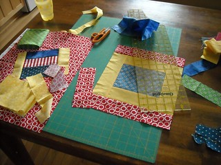 last 2 charity quilt blocks... in process | by vickivictoria