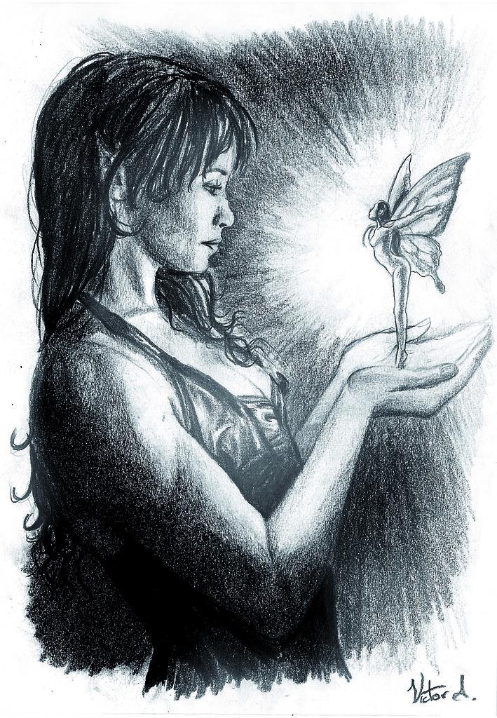 Crees en las Hadas  Lpiz sobre papel  Vctor Aragn  Flickr