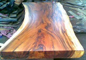 ... Monkey Pod Wood Table Slab | By IndoGemstone