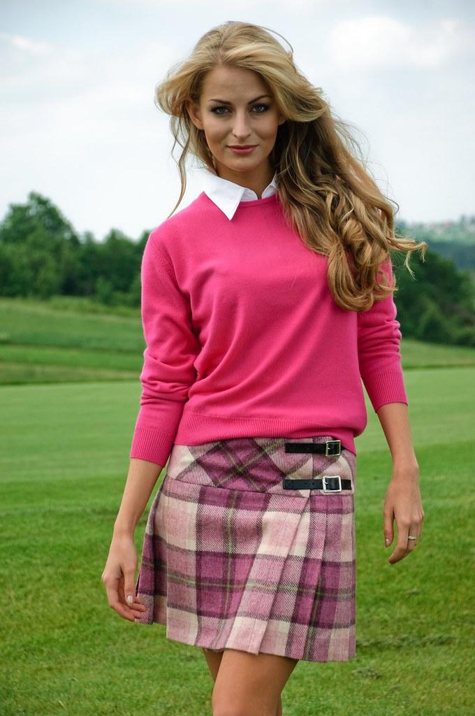 Ladies Scottish Collection Round Neck Sweater Cerise | Flickr