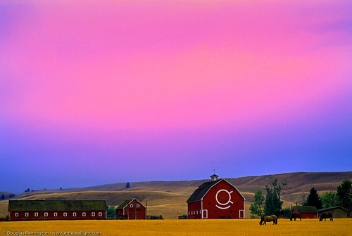 Dusk at the farm, Eastern Oregon. | by Douglas Remington - Ethereal Light® Photography