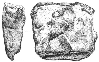 00 Bar fragment with a stamp or brand, possibly from the Grammechele (Catania) hoard unearthed in 1900, and dating to about 600BC | by Ahala
