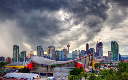 Skyline Over the Calgary Stampede | by Jim Boud