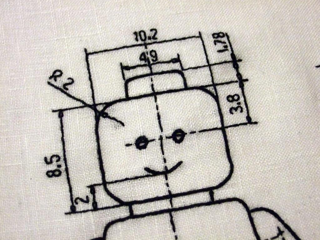 Free Lego Embroidery Design