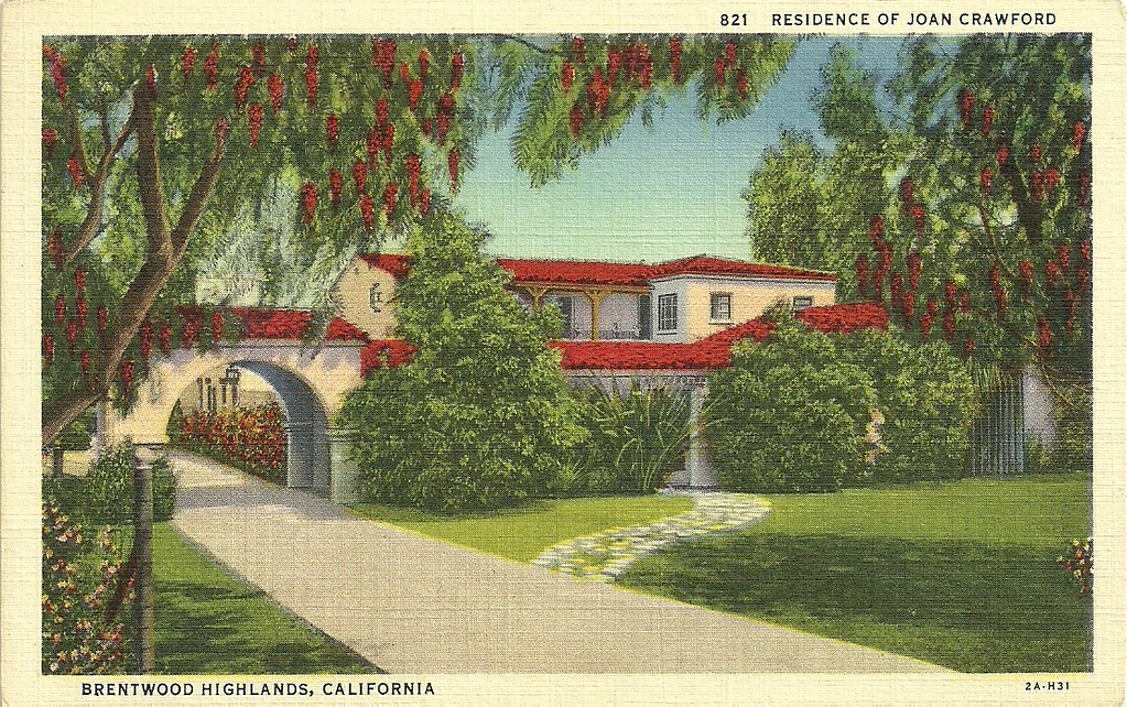 House of joan crawford brentwood la crawford lived for Crawford house