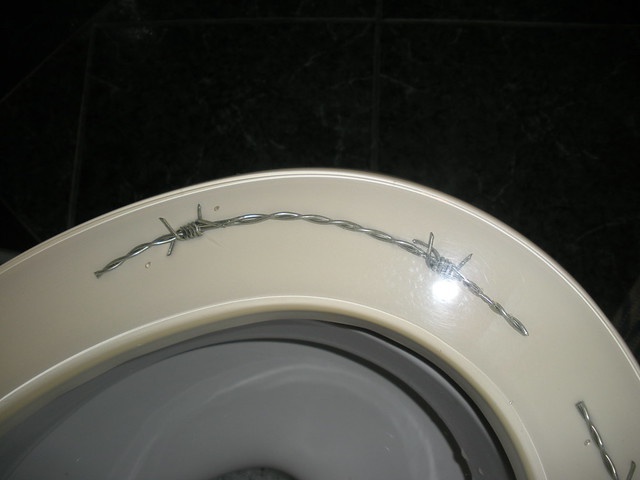 Toilet Seat With Barbed Wire Flickr Photo Sharing