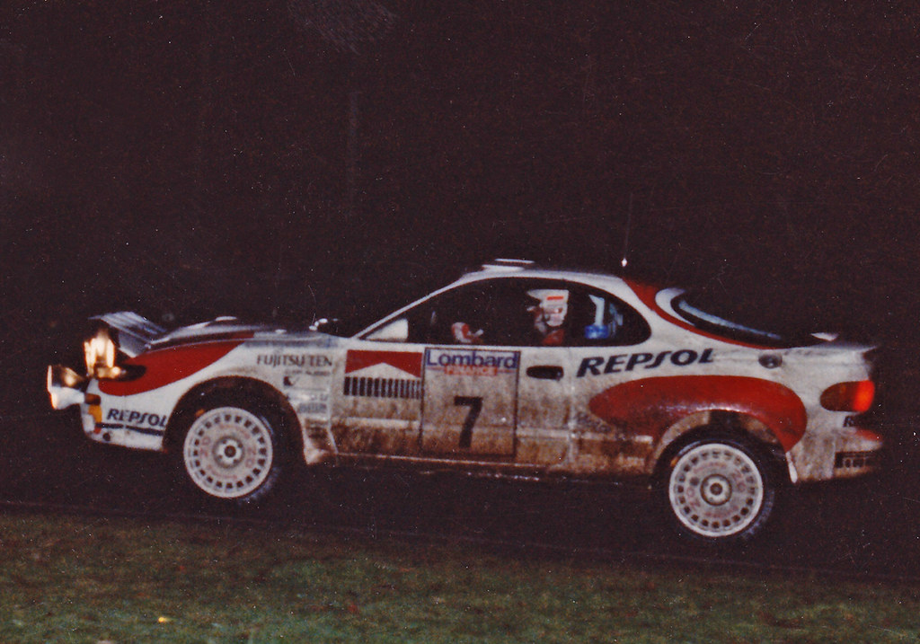 Markku Alen Driving A Toyota Celica 4wd Turbo On The 1992 Flickr