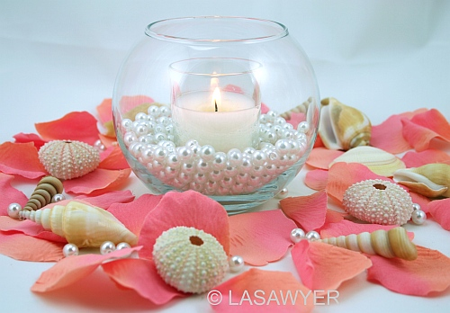 Beach themed wedding centerpiece this beach themed table flickr beach themed wedding centerpiece by lasawyer junglespirit Image collections