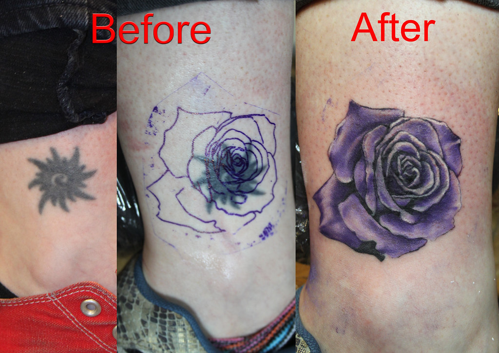 cover up rose tattoo by mirek vel stotker stotker flickr. Black Bedroom Furniture Sets. Home Design Ideas