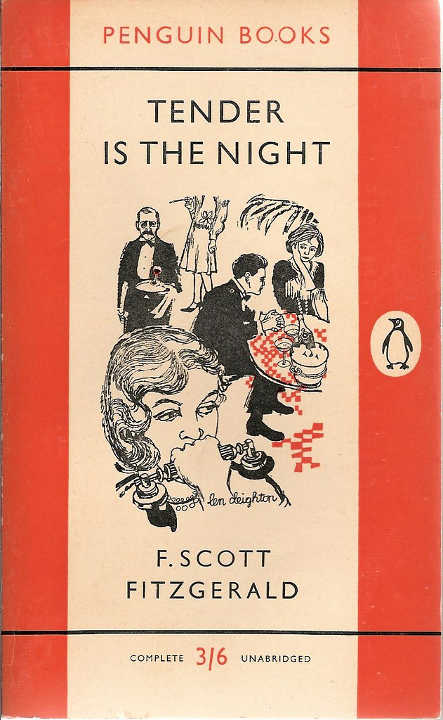 Penguin Book Cover Personalised ~ Tender is the night penguin book cover from