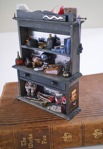 Edgar Allen Poe Gothic Hutch~1:12th Scale | by Enchanticals ~I'm Coming Back