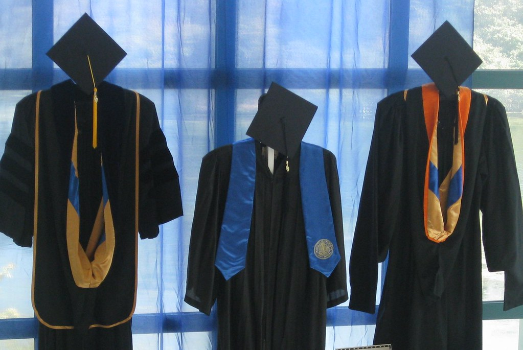 Graduation gowns at UCSB | about college | Flickr