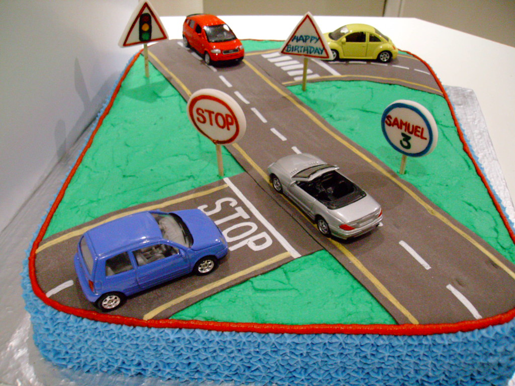 Road Cake The Cars Are Real Keeping The Cost Of The