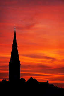 Red Church Sunset | by kirberich