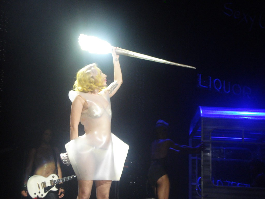 lady gaga and her disco stick the monster ball 2010 flickr
