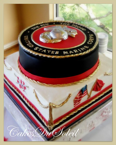 Marine Corps Wedding Cake