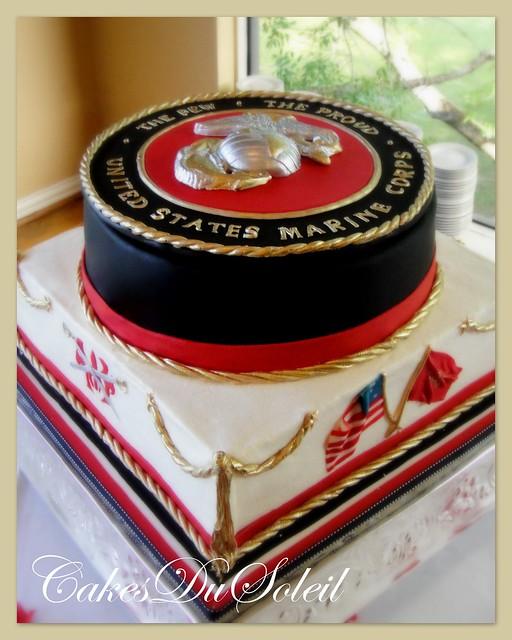 USMC Groom's Cake