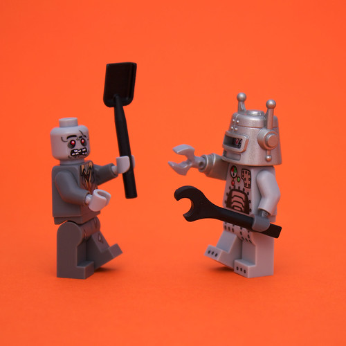 Zombie vs. Robot | by piPhotos