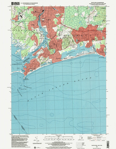 Watch Hill Quadrangle 2001 - USGS Topographic Map 1:24,000 | by uconnlibrariesmagic