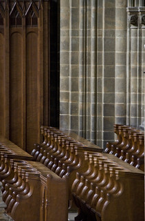 Ampleforth Choir stalls | by Lawrence OP
