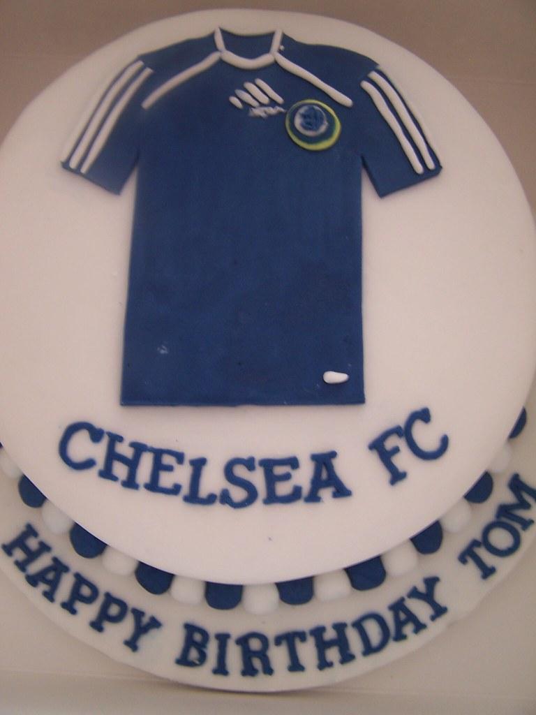 Chelsea Birthday Cake Cake With Chelsea Football Shirt