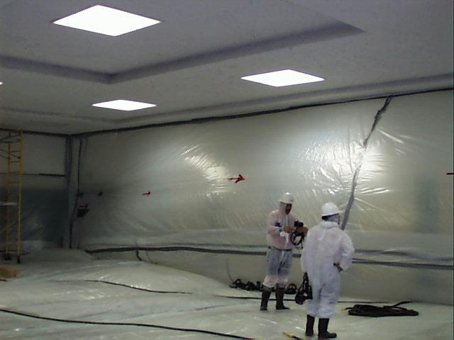 Poorly Designed Asbestos Abatement Negative Pressure Enclo