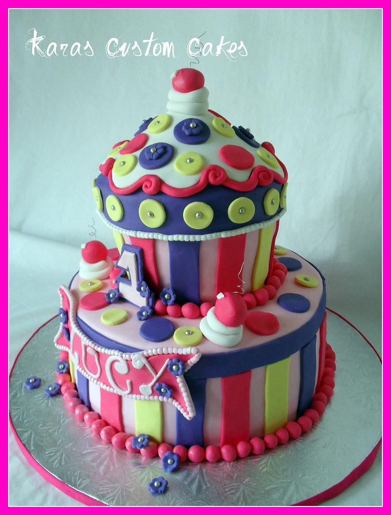 Strange Lucys Second Birthday Cake Kara Smith Flickr Funny Birthday Cards Online Eattedamsfinfo