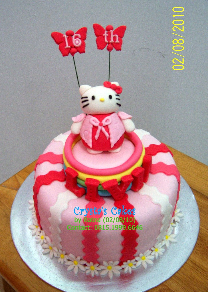 Hello Kitty Cake For Livia 16th Birthday By Crystas Cakes