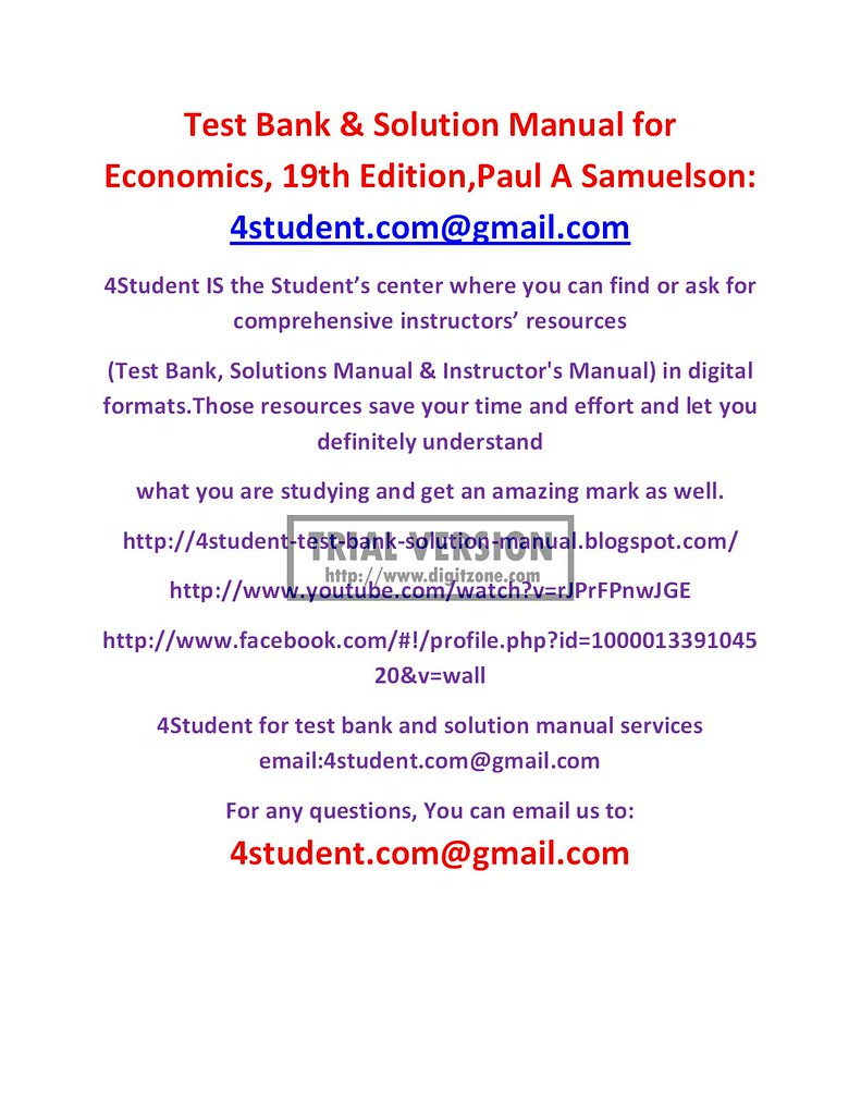 test bank solution manual for economics 19th edition pa flickr rh flickr com South West Economic Solutions Engineering Solutions