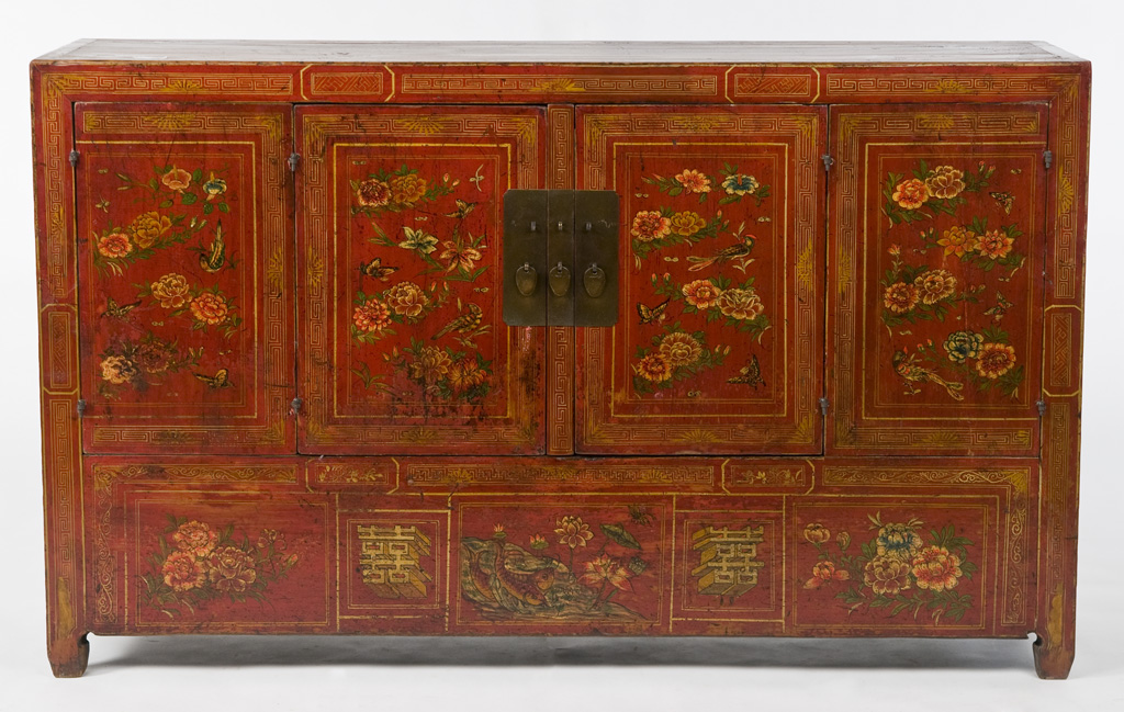 Cn1048y Asian Antique Sideboard Cabinet Antique Asian