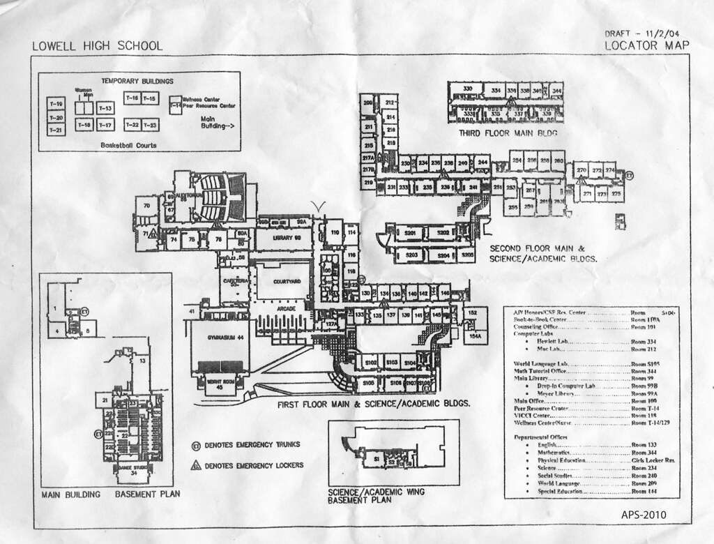 Create A Free Floor Plan Campus Map For Lowell High School San Francisco 1101