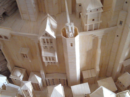 Matchstick sculpture of Minas Tirith | by doryfour