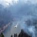 Smoke from Ranger Fire in Blue Ridge Reservoir